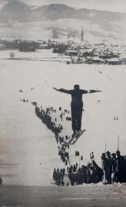 Bruno Biehler, Architekt und Fotograf, Skisprung